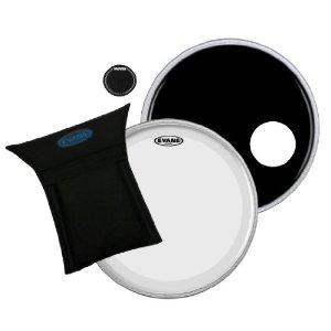 """EVANS BD22B3 Набор: Резонаторный и Ударный пластик EQ3, демпфирующая подушка и наклейка для бас барабана 22"""""""