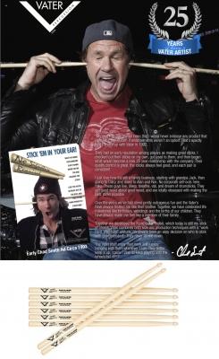 Vater VHCHADW Блок из 12 пар палочек Chad Smith Funk Blaster (RHCP)
