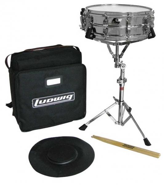 LUDWIG LE2474 Набор для начинающего барабанщика: Малый барабан с сумкой, стойкой, пэдом и палочками
