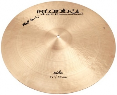 "ISTANBUL AGOP ML21 MEL LEWIS 21"" SIGNATURE RIDE with Rivets"