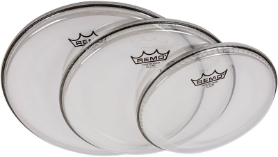 """Remo PP-1002-P4 Powerstroke 4 Clear 10"""" 12"""" 14"""""""