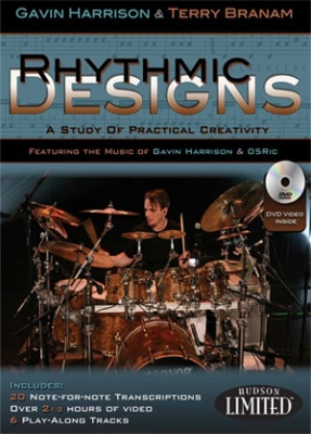 Hudson Music Gavin Harrison Rhythmic Designs BOOK + DVD