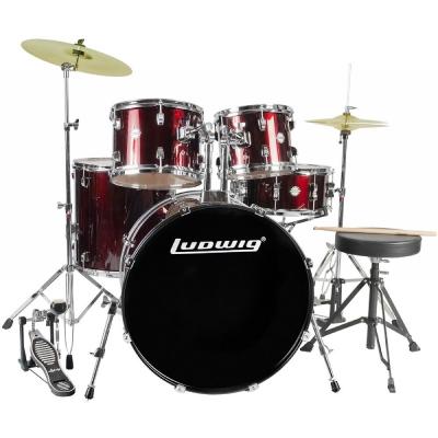 LUDWIG LC175 Барабанная установка со стойками, тарелками и стулом