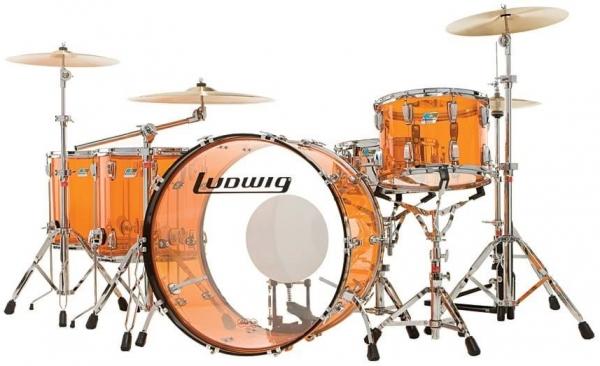 "LUDWIG Vistalite Барабанная установка 24"" 13"" 16"" 18"" цвет: Amber"