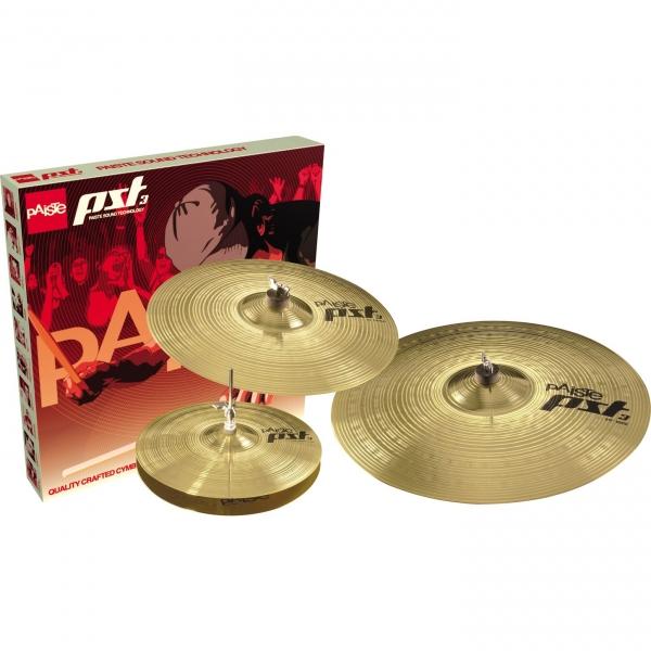 "PAISTE PST 3 Universal Set Набор тарелок (Hi-hat 14"", Crash 16"", Ride 20"")"